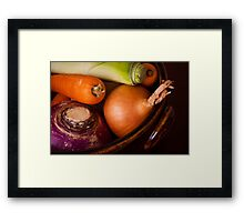 Casserole Vegetables Framed Print