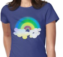 Retro-Colorful Rainbow Womens Fitted T-Shirt