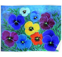 Painted Pansies  Poster
