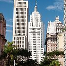 Banespa and Martinelli Building in downtown sao paulo. by aurelioscetta