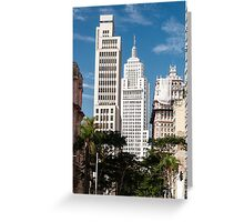 Banespa and Martinelli Building in downtown sao paulo. Greeting Card