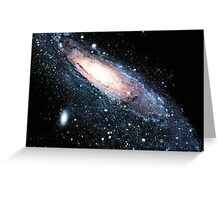 Andromeda galaxy Greeting Card