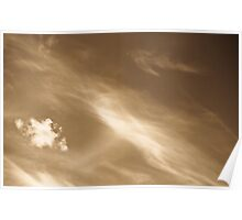 Coffee Cloudscape Poster