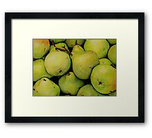 Pears in Colour Pencil Framed Print