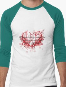 Damon's Love Quote Men's Baseball ¾ T-Shirt