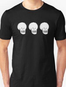 Triple Skull 2 Unisex T-Shirt