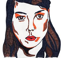 Aubrey Plaza/April Ludgate Portrait by PhilippaDMTW