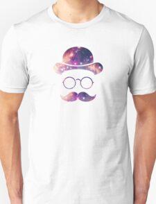 Retro Face with Moustache & Glasses / Universe  Unisex T-Shirt