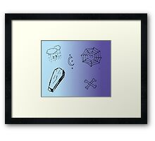 Friday the 13th, purple + blue Framed Print