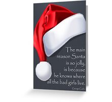 Christmas Card - George Carlin Greeting Card