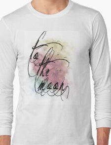 sunset nebula Long Sleeve T-Shirt