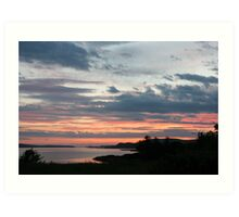 Sunset over Trawbreaga Bay Art Print