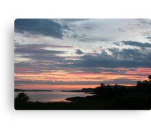 Sunset over Trawbreaga Bay Canvas Print