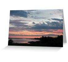 Sunset over Trawbreaga Bay Greeting Card