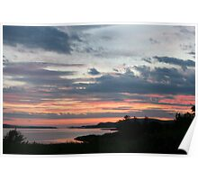 Sunset over Trawbreaga Bay Poster