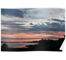 Sunset over Trawbreaga Bay Poster
