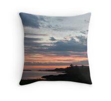 Sunset over Trawbreaga Bay Throw Pillow