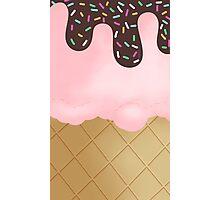 Strawberry Ice Cream sprinkles Photographic Print