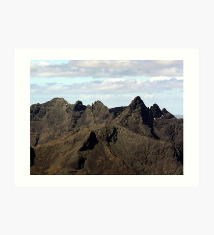 The Mighty Black Cuillin - Isle of Skye Art Print