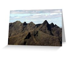 The Mighty Black Cuillin - Isle of Skye Greeting Card