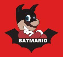 BATMARIO - Batman Mario Mashup Kids Tee