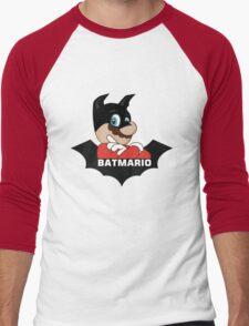 BATMARIO - Batman Mario Mashup Men's Baseball ¾ T-Shirt