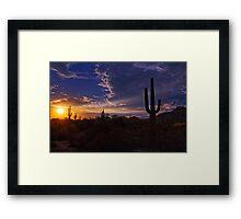 A Saguaro Sunset  Framed Print