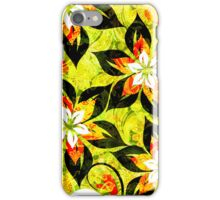 Colorful Warm Tones Retro Floral Collage iPhone Case/Skin