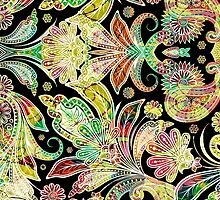 Abstract Colorful Floral Collage by artonwear