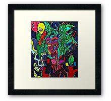 Balloon Girl in Cocaine Jungle Framed Print