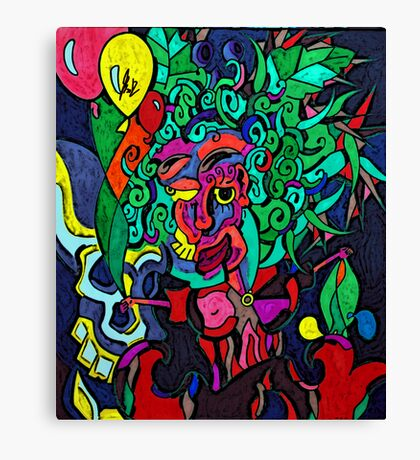 Balloon Girl in Cocaine Jungle Canvas Print