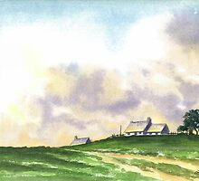 LANDSCAPE WITH FARMS by RainbowArt