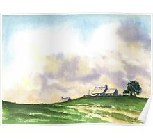 LANDSCAPE WITH FARMS Poster