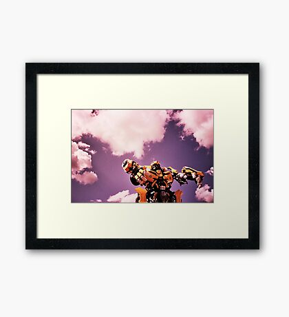 robots in the skies Framed Print