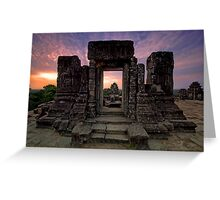 Phnom Bakheng, Hill Top Temple, Cambodia Greeting Card