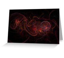 Fractal Dark Red Greeting Card