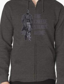 Omar Little - The Cheese Stands Alone Zipped Hoodie