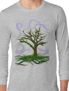 Neon Night Tree Long Sleeve T-Shirt