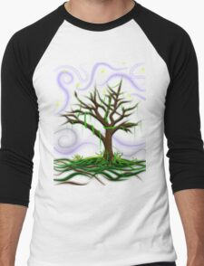 Neon Night Tree Men's Baseball ¾ T-Shirt