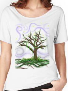 Neon Night Tree Women's Relaxed Fit T-Shirt