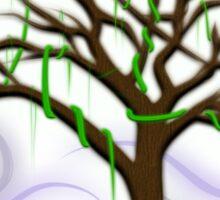 Neon Night Tree Sticker