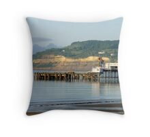 Sandown Pier Head Throw Pillow