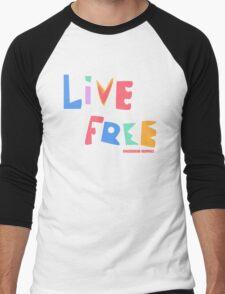 Live Free Men's Baseball ¾ T-Shirt