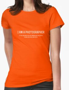 Please Help Me Look For My Camera Womens Fitted T-Shirt