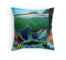 Stingrays at Corrie Island, Port Stephens, NSW, Australia Throw Pillow