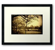 Milwaukee Lagoon © Framed Print