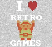 I Love Retro Games (Link) Kids Tee