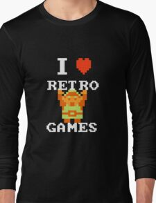 I Love Retro Games (Link) Long Sleeve T-Shirt