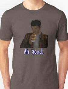 "Shenmue - Ryo Drinking ""Ah good."" T-Shirt"