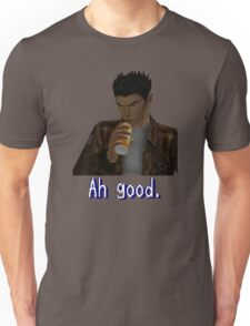 "Shenmue - Ryo Drinking ""Ah good."" Unisex T-Shirt"